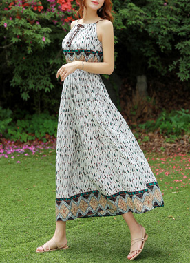 Ethnic Print Maxi Dress, Styleonme