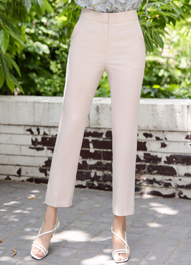Basic Summer Straight Leg Slacks, Styleonme