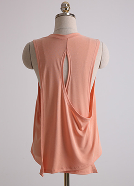 Wrap Cross Back Sleeveless Tee, Styleonme