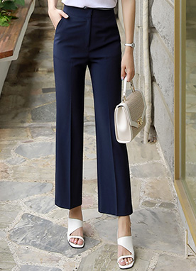 Lightweight Wide Leg Slacks, Styleonme