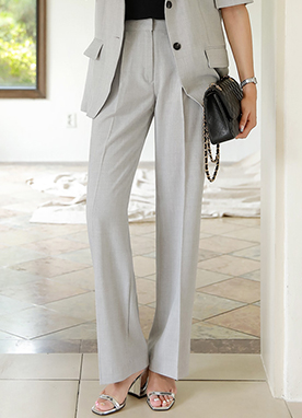 Relaxed Wide Leg Slacks, Styleonme