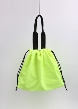 Neon Drawstring Shopper Bag, Styleonme