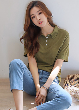 Natural Linen Short Sleeve Collared Shirt , Styleonme