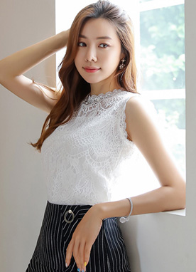 Full Lace Sleeveless Top, Styleonme