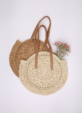 Circle Rattan Eco Bag, Styleonme