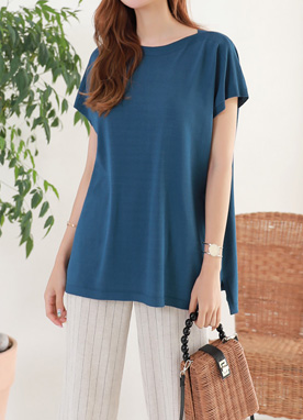 Soft Boat Neck Knit Top, Styleonme