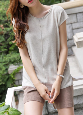 Center Line Natural Knit Top, Styleonme