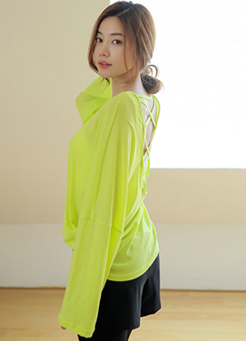 Strappy Back Long Sleeve Tee, Styleonme