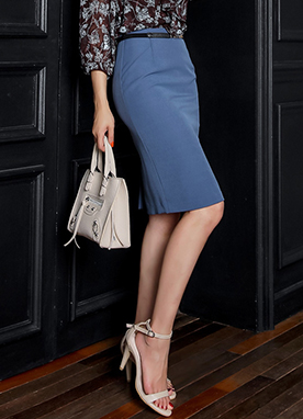 Slim Fit H-Line Skirt, Styleonme