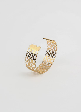 Gold Wide Bangle, Styleonme