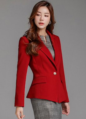 Back Frill Detail Tailored Jacket, Styleonme