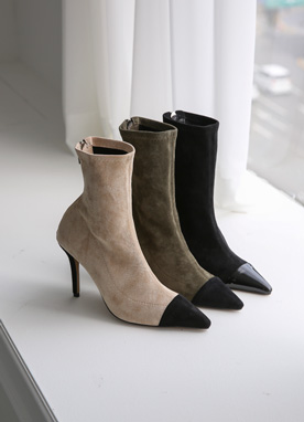 Black Pointed Toe Ankle Boots, Styleonme