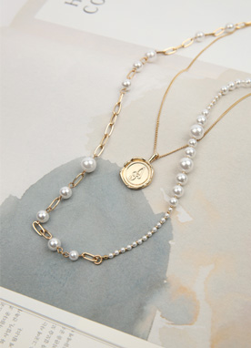 Gold Pearl Necklace Set, Styleonme