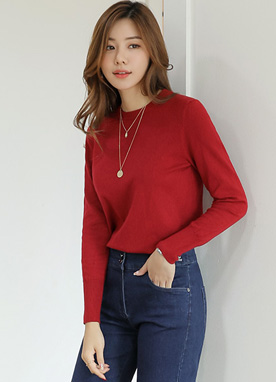 (1+1) Dailywear Round Neck Knit Top, Styleonme