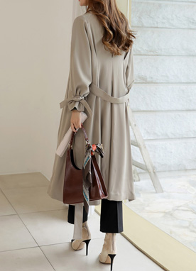 Naturally Chic Waist Tie Trench Coat, Styleonme