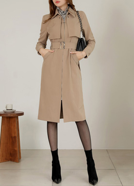 Modern Chic 2way Trench Coat Dress, Styleonme
