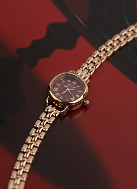 Rose Gold Slim Watch, Styleonme