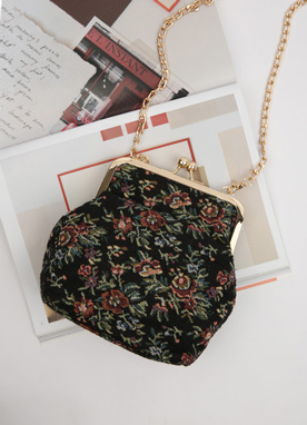 Floral Embroidered Pouch Bag, Styleonme