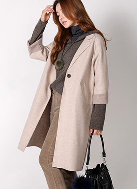 Single Button Oversized Coat, Styleonme