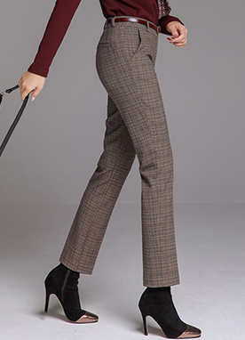 Check Print Winter Slacks, Styleonme