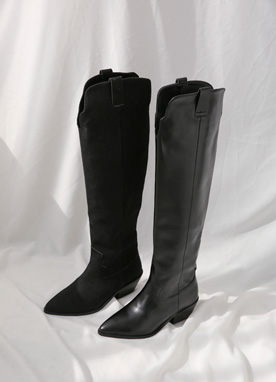 Trendy Western Long Boots, Styleonme