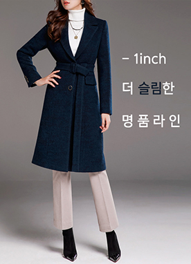 Perfect Line Collection Wool-Blend Coat, Styleonme