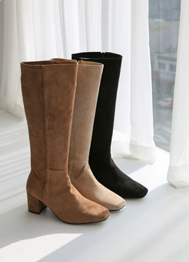 Suede Long Boots, Styleonme