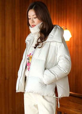Short Down Padded Coat, Styleonme