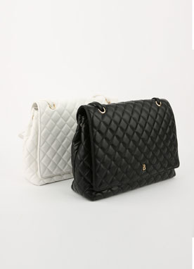 Quilted Front Flap Bag, Styleonme