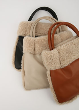 Faux Fur Tote Bag, Styleonme