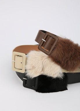 Trendy Fur Belt, Styleonme