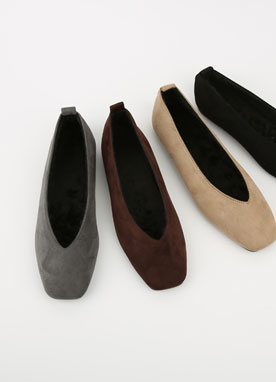 Suede Flat Shoes, Styleonme