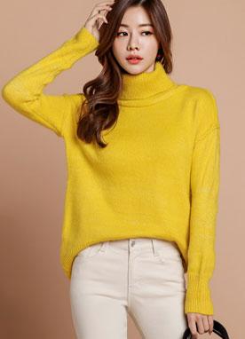 檸檬糖高領針織衫, Styleonme