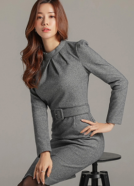 Modern Chic Herringbone Dress, Styleonme