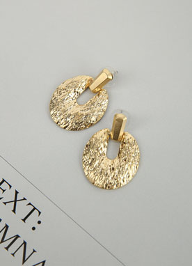 Gold Bold Textured Earrings, Styleonme