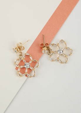 Feminine Flower Earrings, Styleonme