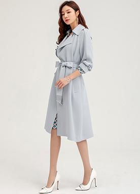 復古經典寬松版風衣, Styleonme