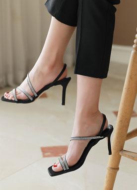 銀色系帶涼鞋, Styleonme