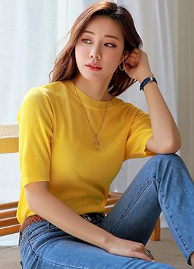 (1+1)鮮艷色彩感基本款T恤, Styleonme