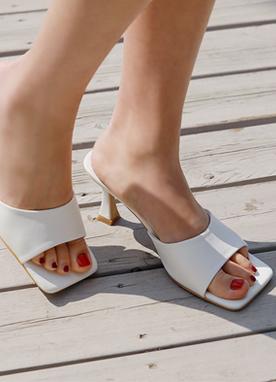 方形高跟拖鞋, Styleonme