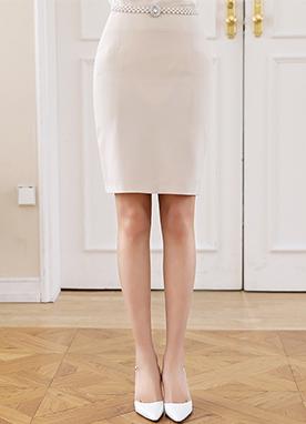 修身基本款H型短裙, Styleonme
