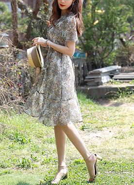 皇家民族風裹身連衣裙, Styleonme