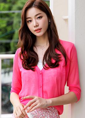 (1+1)輕松涼爽七分袖開衫, Styleonme