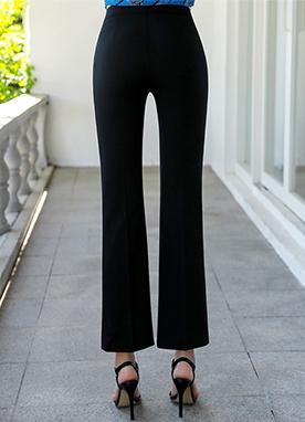 高腰舒適彈性寬松褲, Styleonme