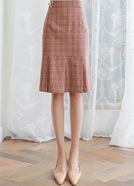 胸針點綴套裝百褶半身裙, Styleonme