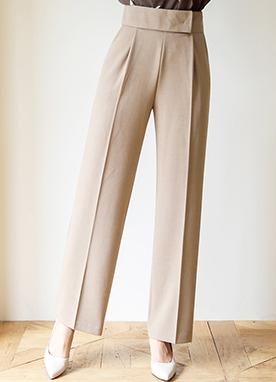 柔和色彩感高腰寬松褲, Styleonme