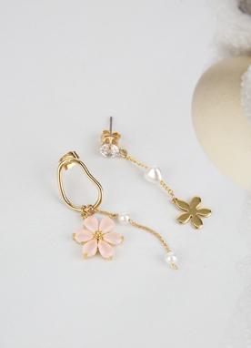 粉色花朵耳環, Styleonme
