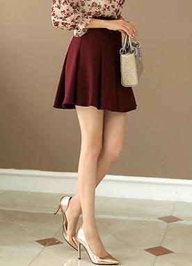 寬褶皺開叉喇叭形裙褲, Styleonme