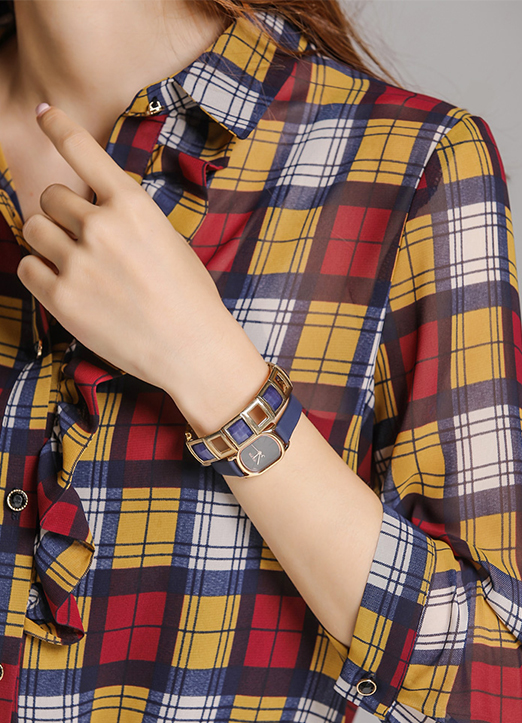 藍金色方形手鏈, Styleonme