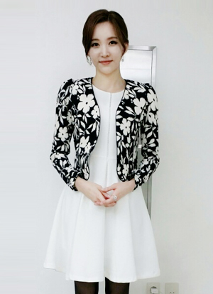 Floral Patterned Cardigan Jacket, Styleonme